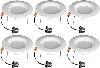 TCP 6 Pack 120 Watt 5/6 Inch Recessed Downlight Retrofit Kit, 1400 Lumens, Dimmable, Daylight (5000K), Energy Star Certified Light Bulbs