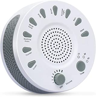 MANLI White Noise Sound Machine, 9 Soothing Nature Sound with Timer Option, Portable Sleep Therapy for Home, Office, Travel, USB or Battery Powered
