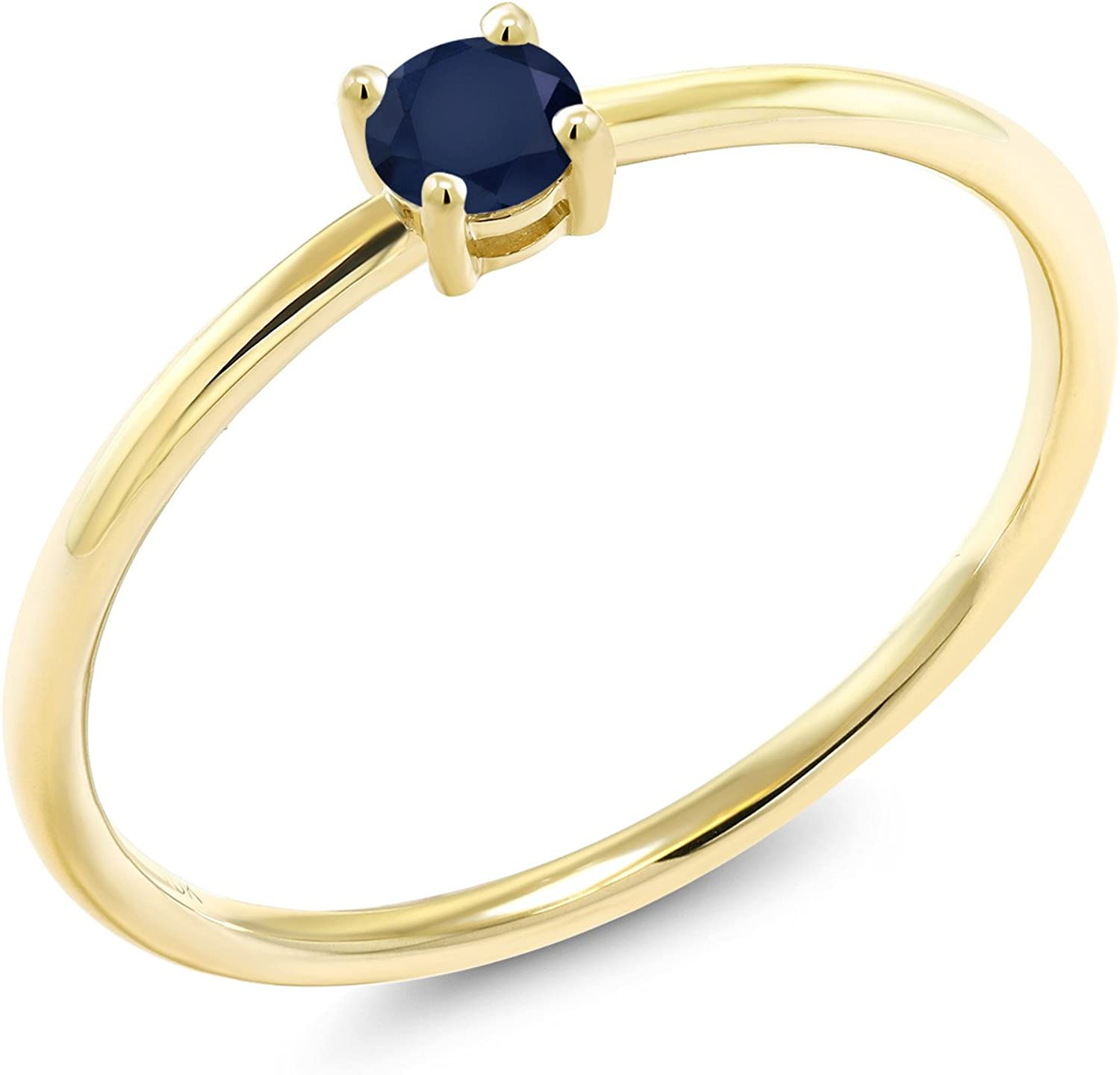 Gem Max 68% OFF Stone Limited time trial price King 10K Yellow Gold E Solitaire Sapphire Women's Blue