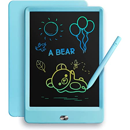 TEKFUN LCD Writing Tablet Doodle Board, 8.5inch Colorful Drawing Tablet Writing Pad, Boys Gifts Toys for 3 4 5 6 7 Year Old Boys, Homeschool Sketch Toys Toddler Doodle Pad Kids Drawing Board (Blue)
