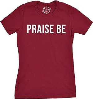 Womens Praise Be Shirt Motivational Christian Top Spiritual Gift for Jesus Lover