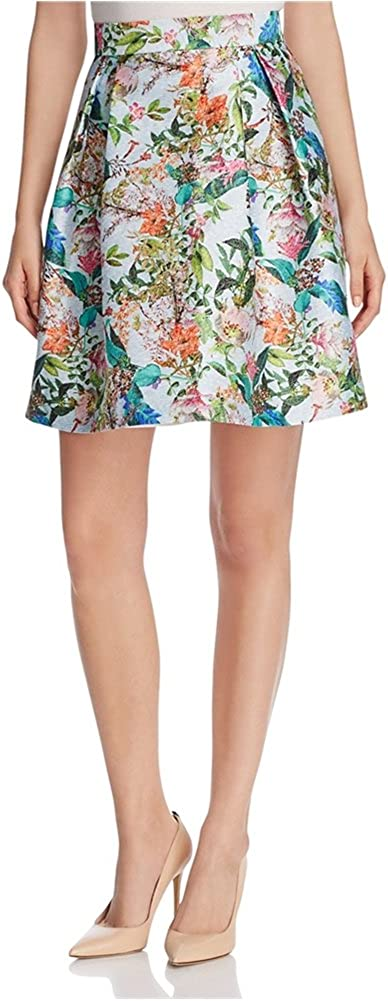 Finity Womens Floral A-Line Skirt