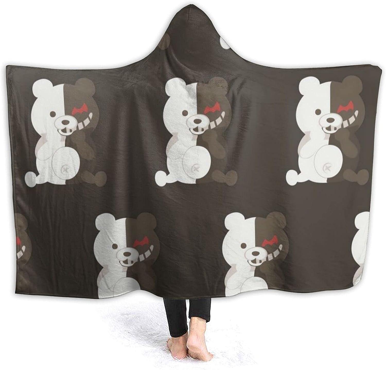 Sidcid Dangan-Ronpa Monoku-Ma Hooded Fleec Anime Blanket Max 82% OFF Flannel Washington Mall