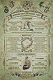 Harry Potter Laminiert Hogwarts School List Maxi Poster 61