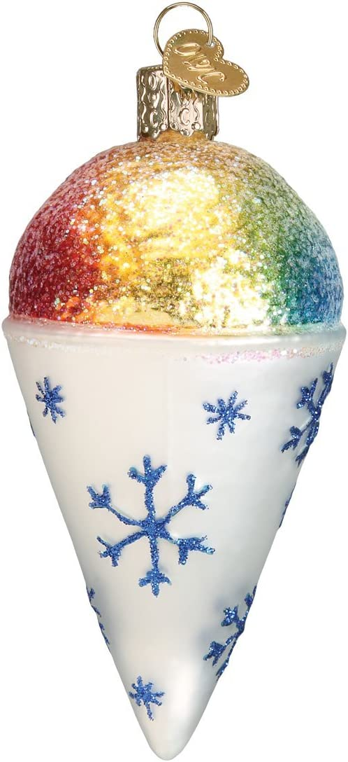 Old World Christmas Ice Cream Lover Gifts Glass Blown Ornaments for Christmas Tree Cone