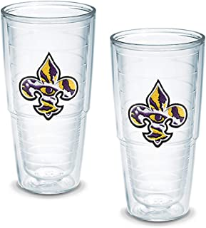 Tervis Tumbler Louisiana State University-Fleur de Lis 24-Ounce Double Wall Insulated Tumbler, Set of 2
