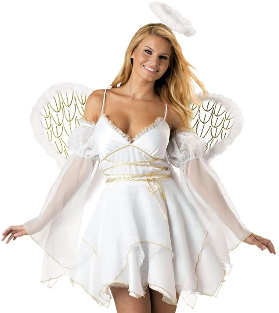 girls fancy dress accessory KIDS FAIRYTALE NATIVITY ANGEL WINGS HALO KIT XMAS