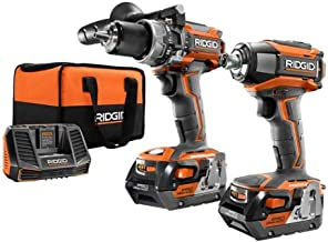 Ridgid R9205 Gen5X 18V Lithium Ion Cordless Hammer Drill and Impact Driver Kit (Includes..
