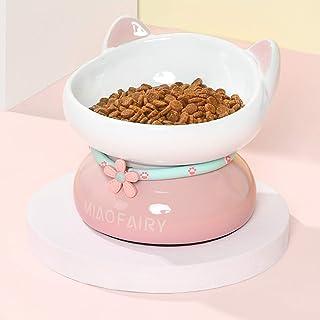 愛らしい 猫 食器 ボウル 猫の餌 磁器 猫新年の贈り物 2021(ピンク)