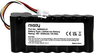 Miady Batería de repuesto para robot cortacésped (5200 mAh/18 V), compatible con Husqvarna Automower 320, 330X, 420, 430, ...