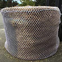 Tech Equestrian Heavy Duty 5mm Thick Round Bale Slow Feed Hay Net 6x6