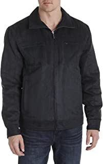 London Fog Men's Microsuede Quilted Lined Basic Jacket