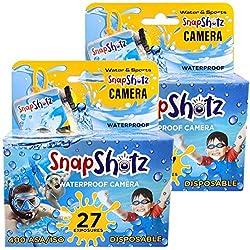 professional SnapShotz 35mm Waterproof Disposable Underwater Pool Camera, 2 Pack