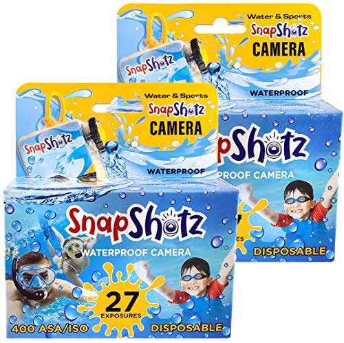 SnapShotz Disposable Waterproof Pool Underwater 35mm Camera, Pack of 2