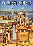 Vintage Travel Orient Express für Paris, Wien und