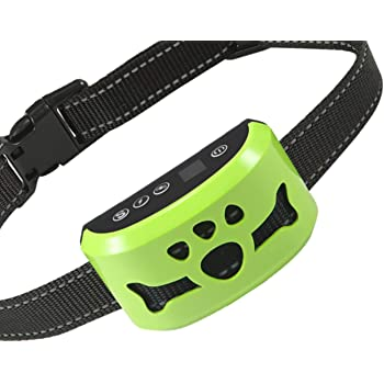 Dog No Bark Collar with Smart Detection Vibration and Harmless Shock- Rechargeable Anti Barking Device for Small Medium and Large Dog