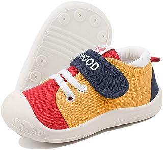 DEBAIJIA Bébé Chaussures Premier Pas pour Enfants Garçons Filles 1-4 ANS Toile Canvas Semelle Souple Antidérapant Légér