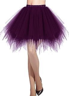 Mujeres Fladas Enaguas Cortas Tul Plisada Fiesta Vintage Retro Ballet