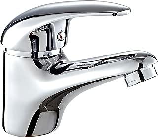 DP Grifería - Grifo monomando de lavabo, color plateado,