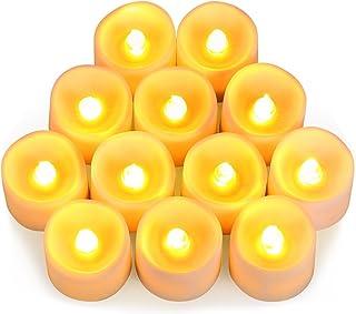 ORIA LED キャンドルライト LEDキャンドル ろうそく 癒しの灯り 揺らぐ炎 リアル感 おしゃれ 省エネ 便利 火を使わない 安全 クリスマス 誕生日 パーティー 結婚式 室内 室外飾り 暖色光 12個セット