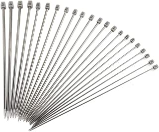 Knitting Needles, Htianc 11 Pcs Stainless Steel Needles Set 13.7 Inch in Sizes 2 mm to 8 mm