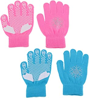 Perfeclan 2 Pairs Stretch Skating Gloves Durable Thermal