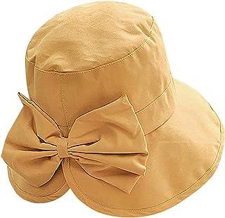 Sayolala Beach Hat Women Kentucky Derby Church Flower Visors Cap Wide Brim Summer Sun Hats for Party Wedding