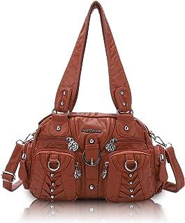 Angel Barcelo Damenmode Handtaschen, Geldbörse, Umhängetaschen, Einkaufstaschen Damen, Mädchen Designer Umhängetaschen (Br...