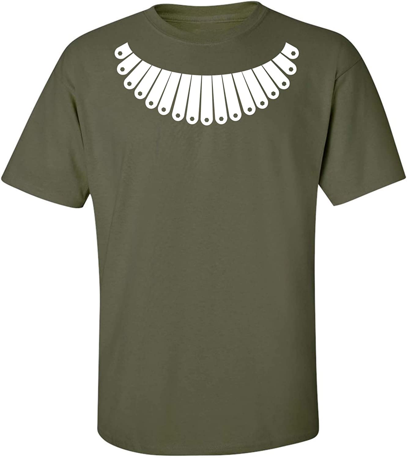 RBG Collar Adult T-Shirt in Military Green - XXXX-Large