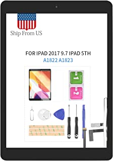 Digitizer Screen Replacement for iPad 2017 iPad 5 Gen 9.7 Inch A1822 A1823 Touch Screen Glass Panel with Home Button Repai...