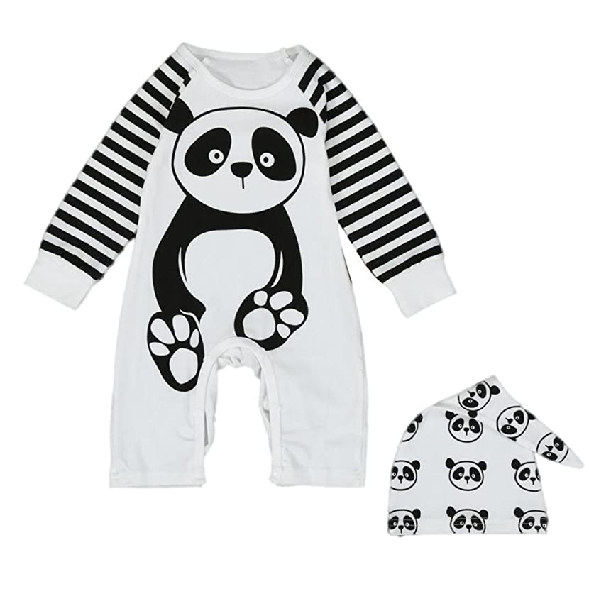 Fheaven Newborn Infant Baby Boys Girls Panda Print Romper Jumpsuit Outfits Clothes