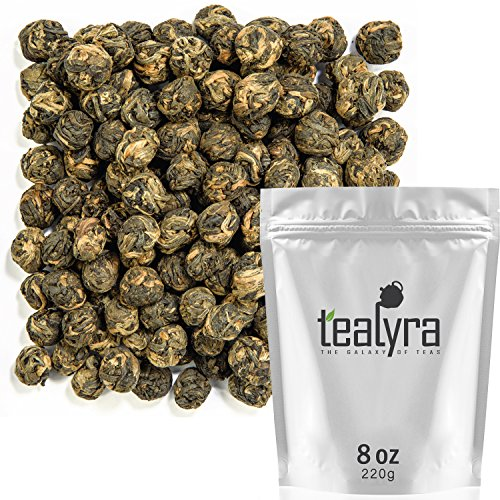 Tealyra - Black Dragon Pearls - Yunnan Special Black Tea - Loose Leaf Tea - Premium Tea - Bold Caffeine - Organically Grown - 220g (8-ounce)