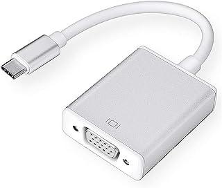 محول USB-C إلى VGA ، منفذ USB 3.1 من النوع C (Thunderbolt 3) إلى محول VGA متوافق مع MacBook Pro وNew MacBook Air 2018 وDel...