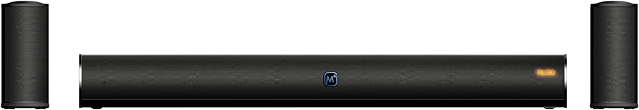 Matata Sound Bar MTMS41S23 True 40 Watt, 2 Wired Satellite Speakers and Built in Subwoofer, LED Display, Multi Connectivit...