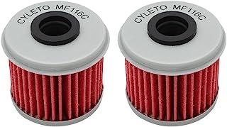 Cyleto Filtro de aceite para CRF450R CRF450 R CRF 450R 2002-2016/CRF450X CRF 450 X 2005 2006 2007 2008 2009 2012 2013 2014 2015 2016