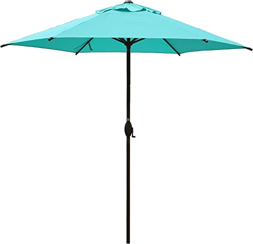 Abba Patio 9ft Patio Umbrella Outdoor Umbrella Patio Market Table Umbrella with Push Button Tilt and Crank for Garden...