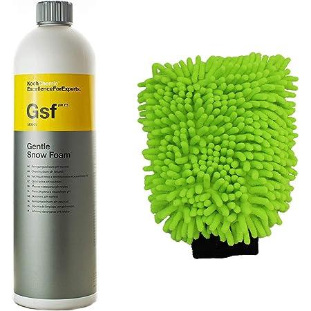 Koch Chemie Gsf Gentle Snow Foam Autoshampoo Reinigungsschaum Ph Neutral 1000ml Mit Mc Autowaschhandschuhe Auto