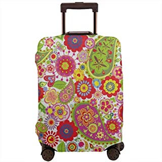 Poppy Paisley Flower Ladybug Travel Luggage Cover DIY Prints Suitcase Protector Suitcase Baggage XL Fits 29-32 inch luggage