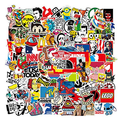 Cool Stickers Pack Random Sticker 106pcs for Laptop Computer...