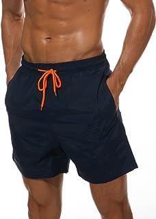 JINSHI Mens Quick Dry Beach Shorts Swim Trunks with Mesh Lining