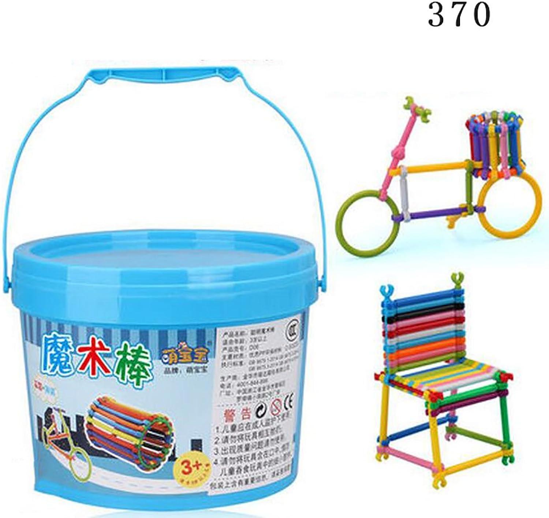 marcas de diseñadores baratos Baquetas Baquetas Baquetas de construcción para Niños, bloques de construcción para Niños y niñas, juguetes educativos para Niños (Color  alrojoedor de 370 tabletas)  Tienda 2018