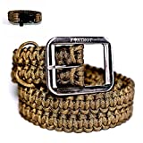 FOXTROT Brown 550lb Survival Military Grade Paracord Belt with Free Matching Paracord Bracelet!!!