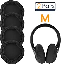 Linkidea Earpad Covers for Sony WH1000XM3, WH1000XM2, MDR1000X, WHCH700N, XB950B1, XB950N1, XB95BT, Headphone Earcup Covers/Stretchable and Washable Sanitary Earpad Protectors (Dark Grey 2 Pairs)