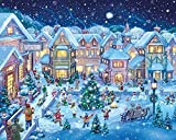 ZZCCFF Holiday Village Square Christmas Puzzle 1000 Pieces,Educational Toy Gift Puzzle