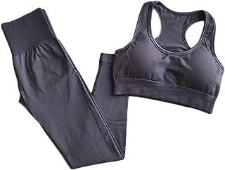 XFKLJ Sports Bra Yoga Pants Energy Seamless Set Workout Clothes for Women Sport Leggings+Sports Bras 2 Piece Gym Sets Outf...