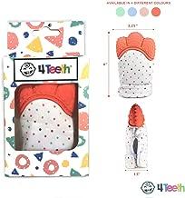 4Teeth Lot de 2 moufles de dentition pour b/éb/é avec sac de voyage dans une bo/îte cadeau