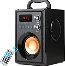 20W Portable Bluetooth Speaker Subwoofer Heavy Bass Wireless Outdoor Indoor Speaker Big Power Speakers Support Remote Control FM Radio TF Card LCD Display for Home Party Phone Computer PC