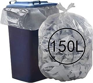 Ucake Bolsas de Basura Transparentes de 39 galones, Capacidad de 150 litros, Paquete de 70