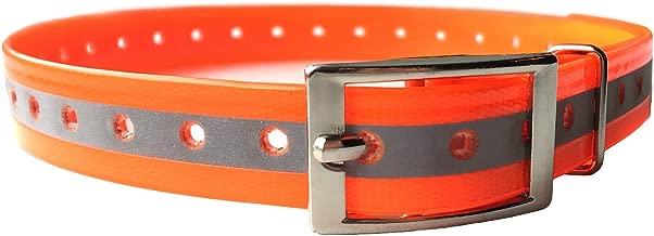 PetSpy Reflective Dog Training Collar - Safe at Night and Odor Free Adjustable and Durable, Orange