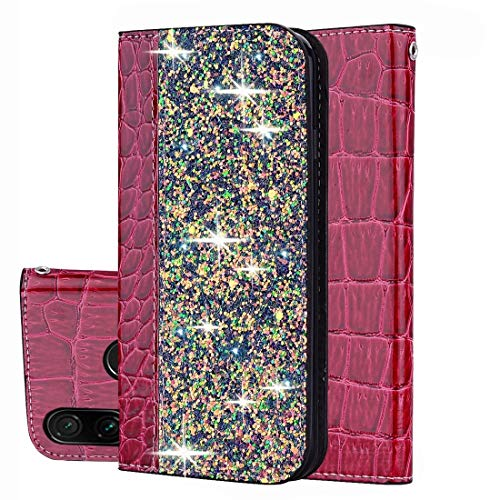 Telefonkasten Guo for Xiaomi Redmi 7 / Redmi Y3 Krokodil Textur Glitter Puder Horizontal Flip...